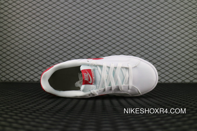 pretty nice f2e43 dce10 Nike Court Royale Sl 826670 160 White Gym Red Cobblestone Blanc Cailloux  Rouge Gym 844802 103