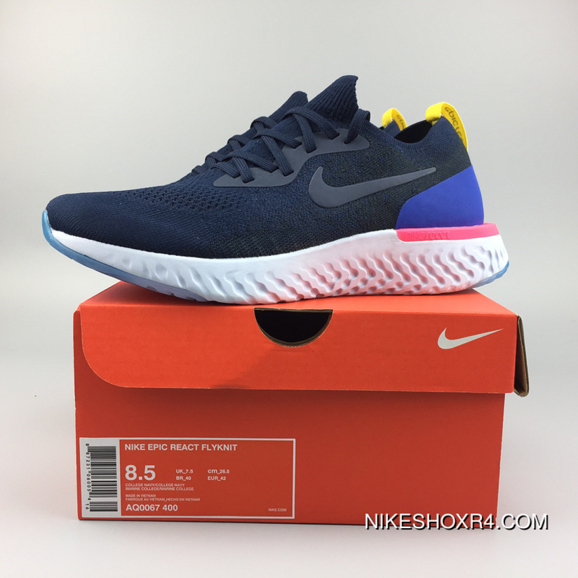 7507efdf83df Nike AQ0067-400 Epic React Flyknit New Technology Super Running Shoes  Picking 18 Epic React
