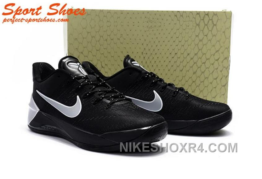 34fb091dacc7 Nike Kobe A.D. Sneakers For Men Low Silver Black New Style RCjab ...