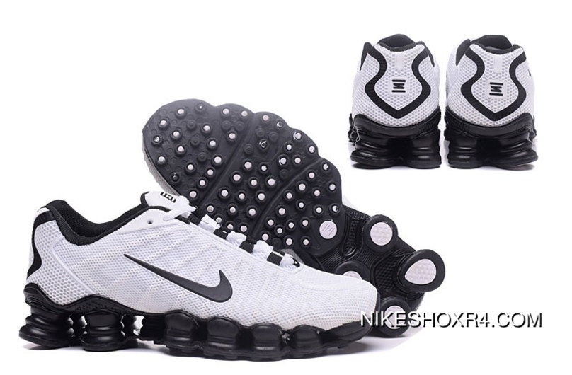 52b0d2a1ef0 Nike Shox TLX 0018 Men White And Black Swoosh Best